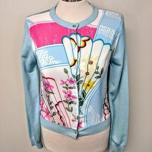 Silk Floral Cardigan